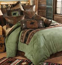 image of rustic cabin bedding vintage