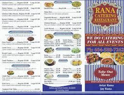 Restaurant Menu - Rana Catering