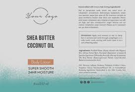 Ingredients Label Template Ingredients Labels Template New Body Lotion Label Template