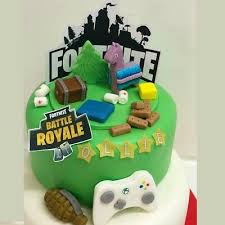 Personalised Fortnite Battle Royale X Box Game Birthday Cake Topper