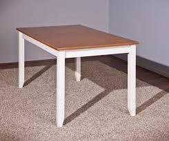 Tisch Esstisch Westerland160 X 90 Cm Kiefer Weiss Lackiertsepia