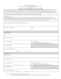 Payroll Forms Direct Deposit Authorization Payroll Form Forms Sargent Corporation