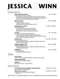 Resume Templates For College Students With No Work Experience ...