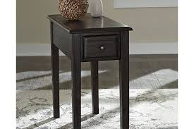 solid wood chairside end table with usb ports u0026 outlets large solid wood end tables o59
