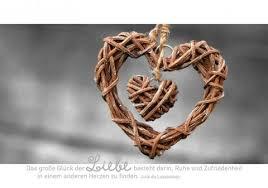Stilvolle Postkarte Das Große Glück Der Liebe Besteht Darin Ruhe