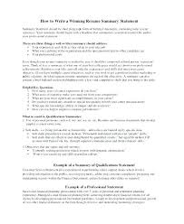 How To Write A Resume Summary Best Resume Summary Of Qualifications Examples Example Fresh Or Socialumco