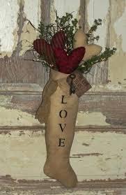 primitive valentine decor country