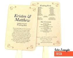 Wedding Program Scroll Wedding Scroll Template