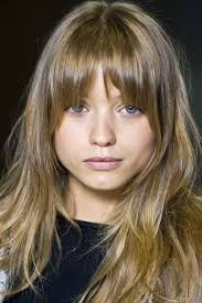 Square Face Bangs Hairstyle Long Rounded Bangs Rounded Bangs That Are Shorter In The Middle