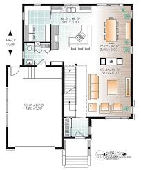 modern floor plans. 1st Level Large Modern House Plan, 4 Bedrooms, Open Floor Plan Layout, Plans O
