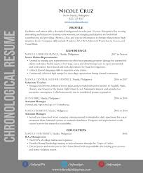 Resume Types By Format Inforati Philippines