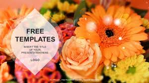 Ppt Flowers Flowers Nature Ppt Templates Download Free