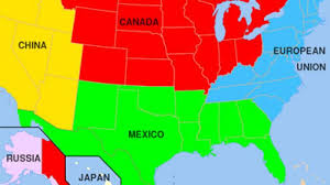 Image result for breakup of america map