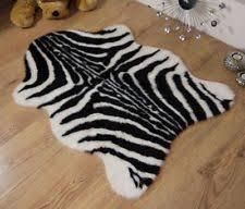 zebra animal print faux fur fake single shape sheepskin style rug mat 70 x 100cm zebra print rug l53 zebra