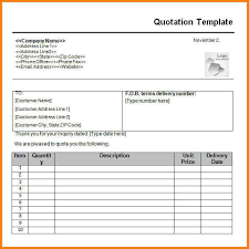 price quotation format doc sample quotation price quotation format doc zoroblaszczakco inside