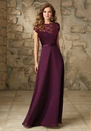 Satin With Illusion Neckline Bridesmaid Dress Style 101 Morilee