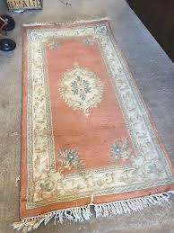 vintage chinese wool rug hand carved oriental decorative 23 10 e