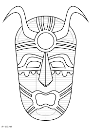 Coloriage Masque Africain Cp Archives Colloriage Download