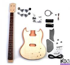 kbg sg mb maple top sg style gany bass build your own guitar kit