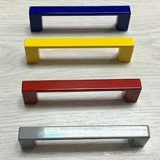 76mm clourful furniture decoration handles 3 white black blue yellow dresser wardrobe door handles pink