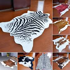 zebra cow leopard carpet imitation animal skins natural shape rugs big size living room decoration non slip floor mats carpet binding beaulieu carpet from