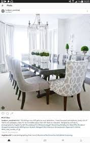 for my dinning room set four solid and two patterned chairs dine in grey
