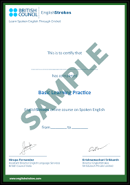 Sample Certificates Welcome To Englishstrokes Com