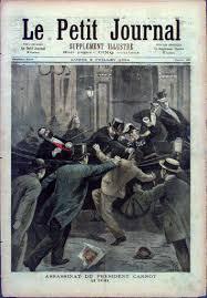 「1894 Marie François Sadi Carnot, assasined」の画像検索結果