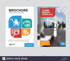 Company Brochure Example Crane Brochure Flyer Design Template With Abstract Photo