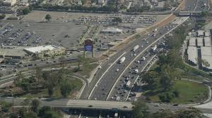 heavy traffic on interstate 710 in bell gardens los angeles california aerial stock footage ax68 040