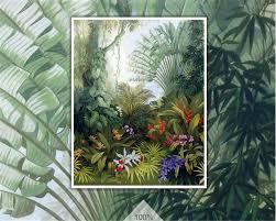 Rainforest Bedroom Beibehang Hand Painted Tropical Rain Forest Plant Landscape