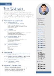 Free Professional Resume Templates Amazing Free Simple Professional Resume Template In Ai Format