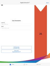Salmofan Color Chart Digital Salmofan On The App Store