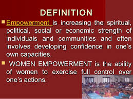 women empowerment 4 definition empowerment