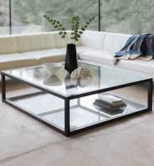 apollo coffee table size 120 x 120cm 47 x 47 top standard glass base steel finished in bronze
