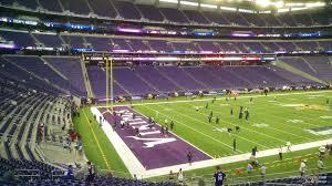 Vikings Seating Chart With Seat Numbers U S Bank Stadium Section 136 Minnesota Vikings