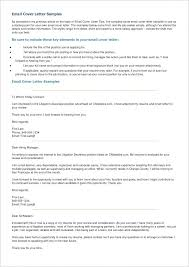 Sample Email Cover Letter Resume Template Directory