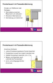 Dämmung Und Fenstereinbau Die Tücke Liegt Im Detail Pdf