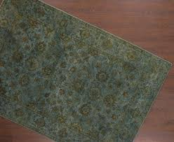 rugsville green gray hand knotted overdyed rug 6 x 9