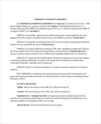 Agreement In Pdf Stunning Governance Agreement Templates 44 Free Word PDF Format Download