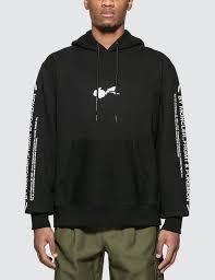 Black Hoodie With Design Fragment Cotton Sweatshirt Hoodie