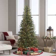 Delicate Pine Slim Pre-Lit Christmas Tree | Hayneedle