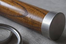 american walnut pole end cap finial for 65mm 50mm