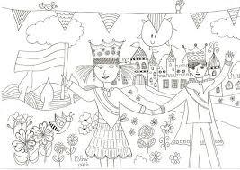 Koningsdag Kleurplaat Beloningskaarten En Kleurplaten
