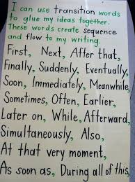 best writing anchor charts images teaching transition words