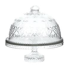 etched glass cake plate with dome lid stand john lewis