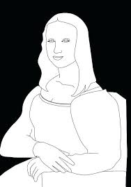 Mona Lisa Coloring Page Enchanted Learning Spikedsweetteacom