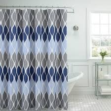 Glee Shower Curtain in Clear/Blue Multi-13953CX - The Home Depot
