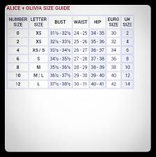 Alice Olivia Size Chart
