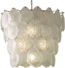 murano leaf chandelier clear ceiling lights fans indoor and outdoor lighting lighting